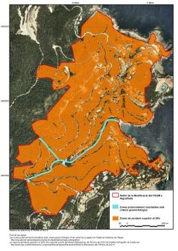 Zones amb pendents superiors al 20% i zones potencialment inundables