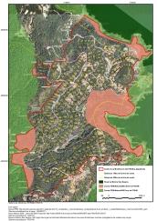 Superposició de la futura urbanització al PEIN Muntanyes de Begur i Xarxa Natura 2000