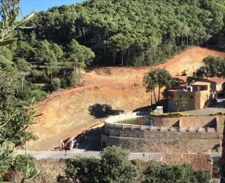 Grans moviments de terra per procedir amb la construcció dels Jardins Sa Riera Living Novembre 2018